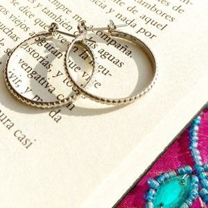 WHITE GOLD SMALL DAINTY HOOPS